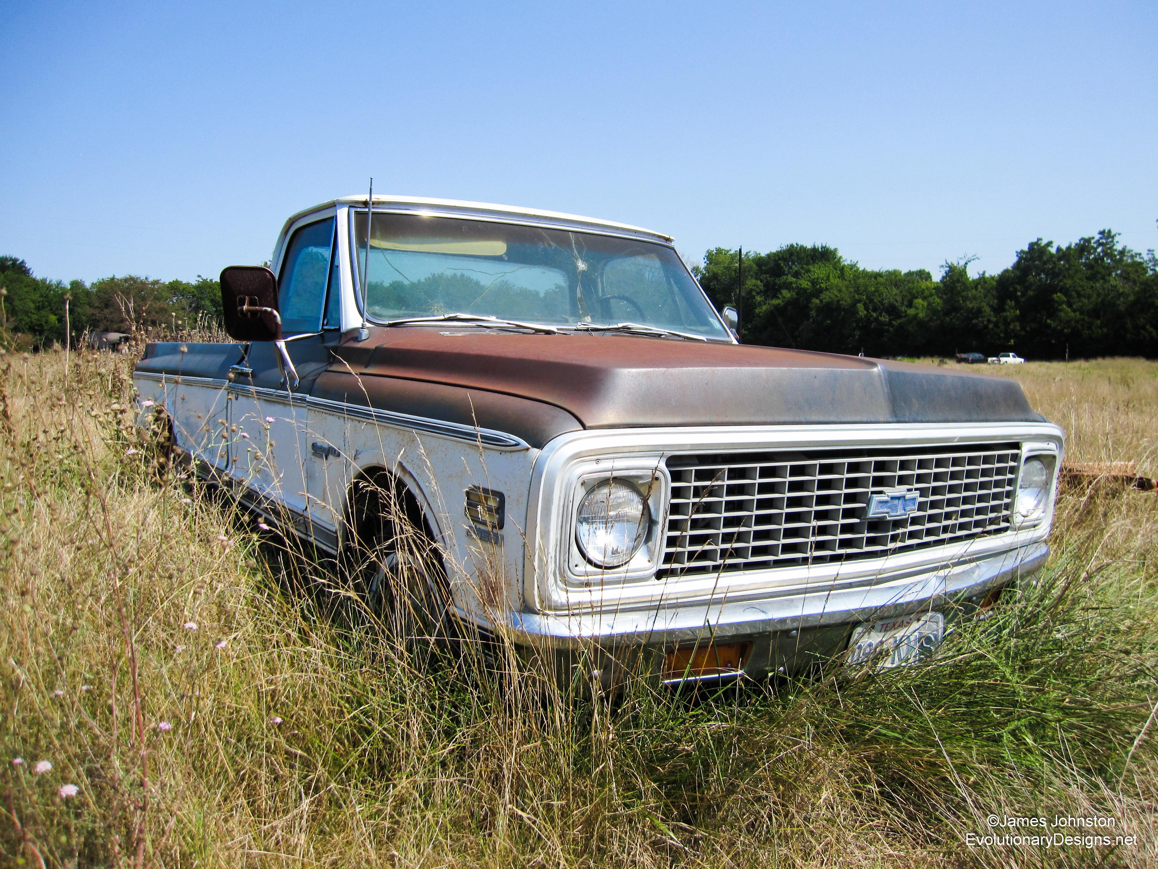 Abandoned Cars and Trucks Along HWY 121 Between Anna, Texas and Bonham, Texas