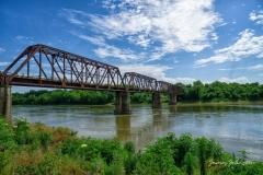 Carpenters Bluff Bridge Looking East