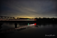 Carpenters Bluff Bridge at Night