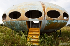 The Futuro House Before the New Paint