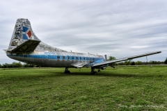 An abandoned Martin 404 Passenger Plane parked at the old Flying Tiger Airport & Flight Museum in Paris, Texas