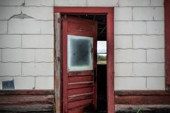 The Abandoned Santa Fe Rail Depo in Hamlin, Texas is all that is left of Santa Fe railway in town.