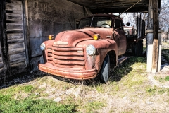 Abandoned Service Station and Truck in Italy, Texas