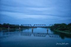 Carpenters Bluff Bridge Blue Hour