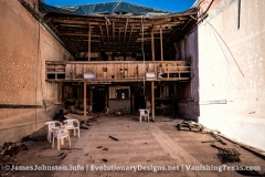 The Palace Theater in Anson, Texas - The View of the Loby and Balcony