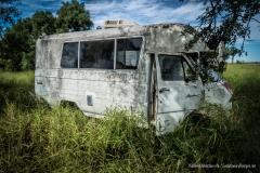 Abandoned 1970 Ford Econoline north of Corpus Christi